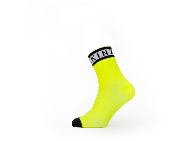 Sealskinz Waterproof Warm Weather Ankle Socks with Hydrostop, neon yellow/black/white